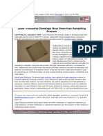 New Laser Photonics Oven-less Annealing Process