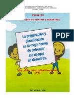 PROYECTO PREVENCIÓN RIESGOS Y DESASTRES 2012.SAN MIGUEL