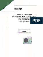 Manual Utilizare Aparat Aer Conditionat Nordstar