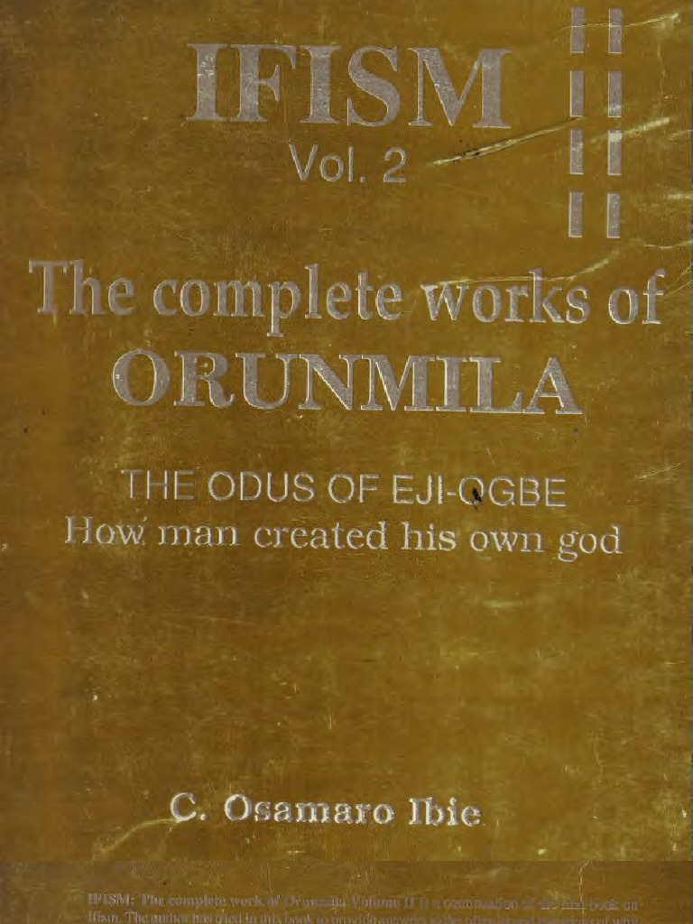 Osamaro IFISM Vol 2 English Complete Osamaro Ibie | Greek Mythology |  Genesis Creation Narrative