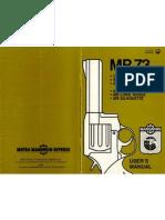 Manurhin MR73 Owner's Manual