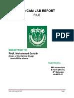 CadCam Lab Report File