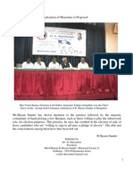 B.Shyam Sunder-Federation of Minorities Proposed
