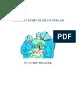 Persiapan pasien Pre Operasi