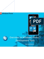 Overview on Windows Phone 7 Development Tools