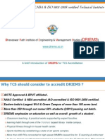 A Brief Introduction of DRIEMS for TCS Accreditation