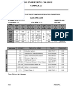 Class Time Table IV Year Ece - Vii Sem
