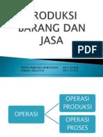 Produksi Jasa Dan Barang