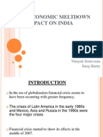 Global Economic Meltdown and Its Impact on India-final