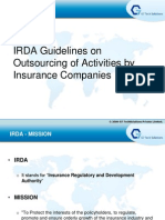 IRDA Guidelines on Outsourcing
