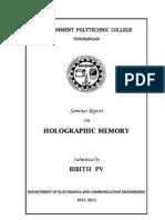 Seminar Report_Holographic Memory