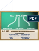 BUS 520 (Managment & Organization Behaviour)