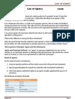 Law of Agency & Bailment