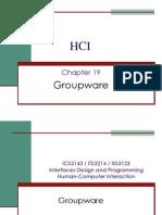 HCI Chap 19 Groupware
