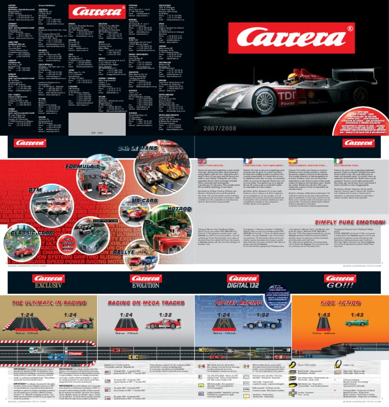 9d7569440082b7 Carrera Slot Cars - Catalogue   Katalog - 2007-2008   24 Hours Of Le Mans    Car Manufacturers