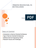 Service Oriented Architecture , Its Tenets and Challenges
