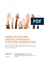 UNDER-REGISTEREDGROUPS & INDIVIDUALELECTORAL REGISTRATION