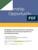 UltraSpectra Internship