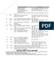 205 Lab Schedule Spr09