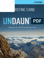 Undaunted Small Group Bible Study by Christine Caine - Sample
