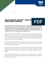 Comunicado de imprensa | Dacia Duster Delsey