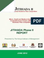 Jitihada 2012 Report _TIMOTHY MAHEA