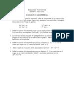 Ejercicios Propuestos n8.Hiperbola