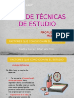 Factores Que Favorecen El Estudio