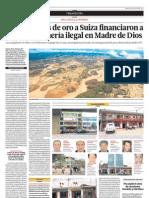 Exportadoras de oro a Suiza financiaron a clanes de minería ilegal en Madre de Dios