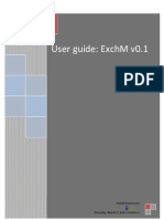 User Guide ExchM v0.1