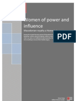 Women of Power and Influence in Macedon a Homeric Legacy