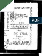 Catecismo Del Liberalismo Presbitero Ramon Valle