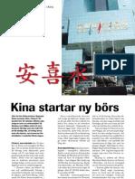 """""""Kina startar ny börs"""", för Aktiespararen"""