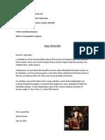 Nimrod Letter to Russian Ambassador Regarding Pussy Riot | Aug 2012