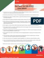 CS4L Core Values