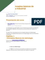 Curso Conceptos básicos de Metrología Industrial