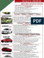 Bảng giá xe Kia - Thaco Kia - Trường Hải Auto - Xe 04, 07 chỗ Kia