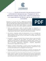 NdP La Confederació_ Valoració impagaments Generalitat Serveis Socials 2012-07-31