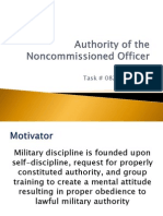 The Authority of the Noncommissioned Officer (NCO)