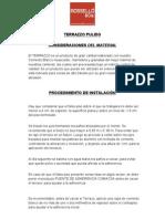 Terrazzo Pulido - Ficha Tecnica de Instalacion