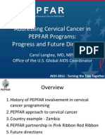 Carol Langley on USG Support for Addressing Cervical Cancer