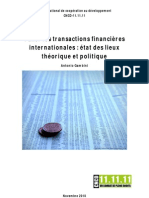 Taxer les transactions financières internationales