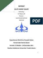 Acute Kidney Injury Redly