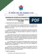 SISTEMA DE ACTIVIDADES PARA EL PRIMER AÑO DE VIDA (0 A 1 AÑO)