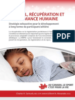Sommeil Recuperation Et Performance Humaine