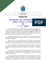 programa de estimulación  para niños y niñas  de  0 a 2 años