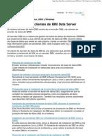 Servidores DB2 y Clientes de IBM Data Server
