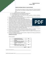 Reglamento Interno Clase de Ingles Sem a0910