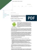 Développer une application mobile sous Android -