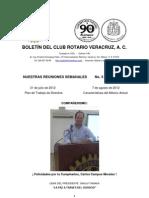 Boletín Rotario del 31 de julio de 2012